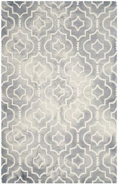 Berman Dip Dye Gray/Ivory Area Rug Rug Size: Rectangle 8' x 10'