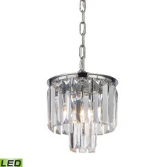 Springfield 1-Light Crystal Pendant Finish: Polished Chrome