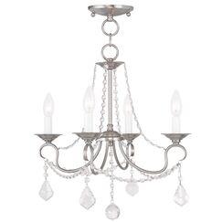 Devana 4-Light Candle Style Chandelier Finish: Brushed Nickel