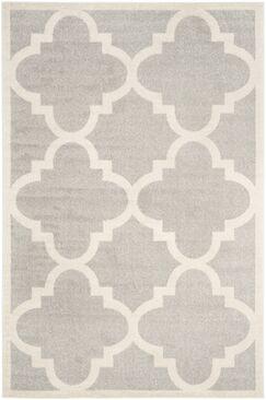 Maritza Light Grey & Beige Area Rug Rug Size: Rectangle 6' x 9'