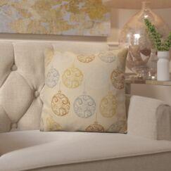 Decorative Holiday Geometric Print Throw Pillow Size: 26