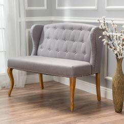 Dean Fabric Loveseat Upholstery: Light Grey