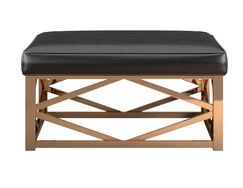 Gilham Ottoman Upholstery: Brown, Color: Champagne Gold