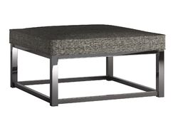 Gilham Ottoman Upholstery: Gray, Color: Chrome