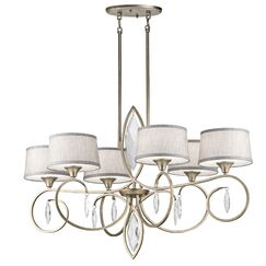 Claudine 6-Light Shaded Chandelier Finish: Sterling Gold