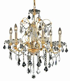 Diogo 6-Light Chandelier Finish: Gold, Crystal: Royal Cut