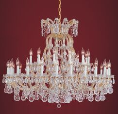 Griffiths 36-Light Candle Style Chandelier