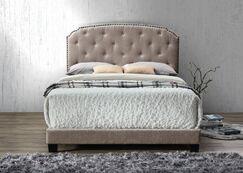 Noelie Queen Upholstered  Panel Bed Color: Brown