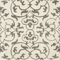 Rhona Hand-Tufted Ivory/Grey Contemporary Area Rug Rug Size: Square 6'