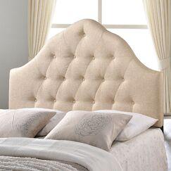 Joao Upholstered Panel Headboard Size: Full, Upholstery: Beige