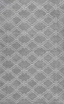 Cherelle Hand-Woven Gray Area Rug Rug Size: Rectangle 7'6