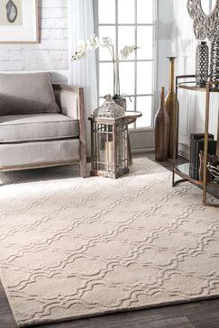 Alonza Wool Cream Area Rug Rug Size: Rectangle 7'6
