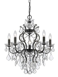 Maira 6-Light Candle Style Chandelier Crystal Grade: Spectra, Finish: Vibrant Bronze