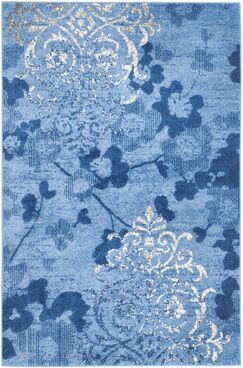 Frizzell Light Blue&Dark Blue Area Rug Rug Size: Rectangle 5'1