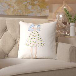 Alison B Boho Floral Throw Pillow Size: 20