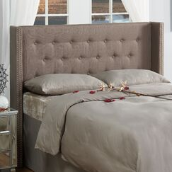 Dowlen Upholstered Wingback Headboard Size: Full/Queen, Upholstery: Dolphin