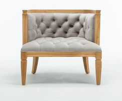 Williamson Barrel Chair Upholstery: Dove Gray, Finish: Natural