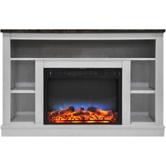 Eudora TV Stand with Electric Fireplace Finish: White