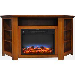 Cesar LED Electric Fireplace TV Stand Finish: Teak