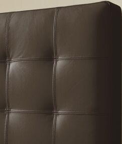 Estelle Upholstered Panel Headboard Size: King, Upholstery: Brown