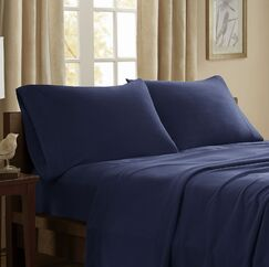 Etheridge 227 Thread Count Sheet Set Size: Twin, Color: Navy