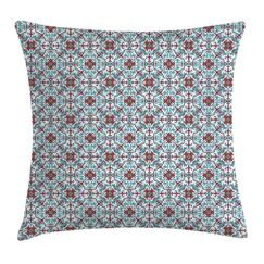 Ethnic Antique Floral Cushion Pillow Cover Size: 24
