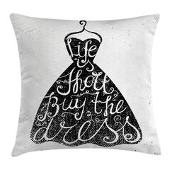 Modern Positive Quote on Hanger Square Pillow Cover Size: 20