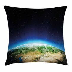 Russia from Space Sky Square Pillow Cover Size: 20