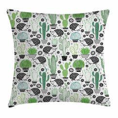Cactus Hedgehog Saguaro Square Pillow Cover Size: 20
