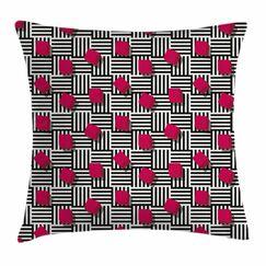 Teen Room Decor Geometric Art Square Pillow Cover Size: 24