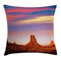 United States Monument Valley Square Pillow Cover Size: 16