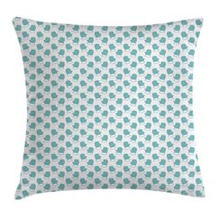Winter Snow Gloves Square Pillow Cover Size: 18