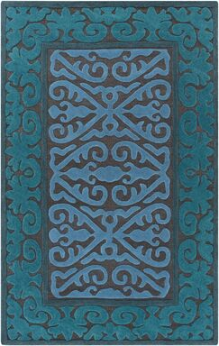 Enkhuizen Hand Woven Blue Area Rug Rug Size: Rectangle 4' x 6'