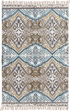 Blairsville Hand-Woven Blue/Brown Area Rug Rug Size: Rectangle 8' x 10'