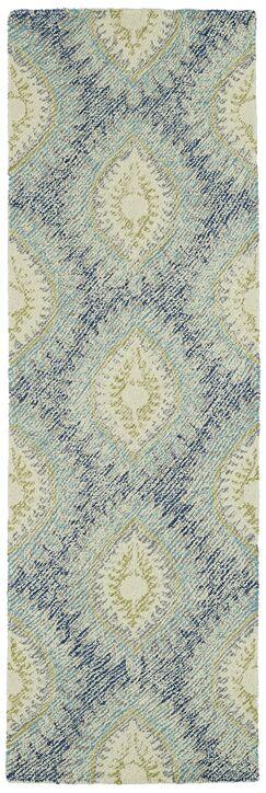 Locust Grove Hand-Tufted Wool Blue Area Rug Rug Size: Runner 2'6