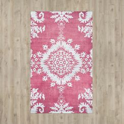Moulouya Hand-Knotted Pink Area Rug Rug Size: Medium Rectangle 6' x 9'
