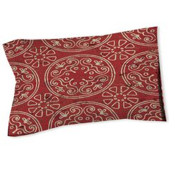 Theo Medallion Sham Size: Twin, Color: Rust