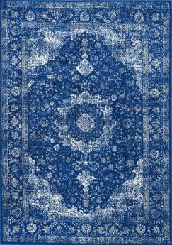 Marisa Dark Blue Area Rug Rug Size: Rectangle 6'7