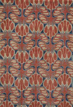 Allen Hand-TuftedRed Area Rug Rug Size: Rectangle 5' x 7'6
