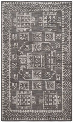 Maffei Hand-Woven Wool Grey Area Rug Rug Size: Rectangle 5' x 8'