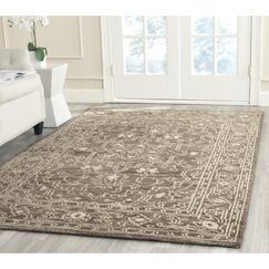 Maffei Hand-Woven Wool Brown/Beige Area Rug Rug Size: Rectangle 4' x 6'