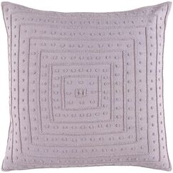 Yasser Throw Pillow Cover Color: Lavender, Size: 22