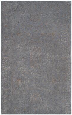 Samaniego Hand-Tufted Steel/Blue Area Rug Rug Size: Square 6'