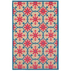 Luisa Sand/Pink Outdoor Area Rug Rug Size: Rectangle 6'7