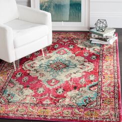 Portillo Pink Area Rug Rug Size: 5' x 5' Round