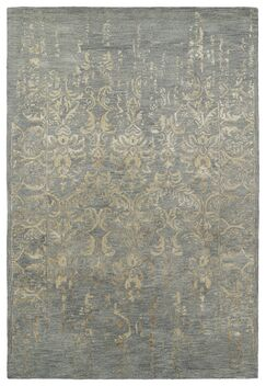 Lincolnton Hand-Tufted Pewter Green / Bronze Area Rug Rug Size: Rectangle 3'6