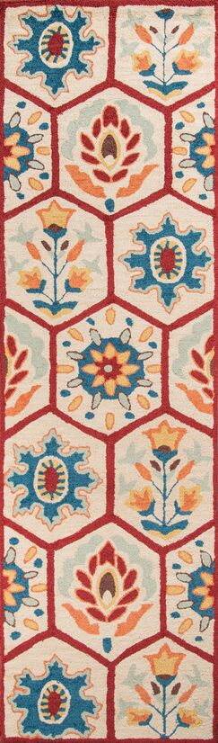 AliyahHand-Tufted Red Area Rug Rug Size: Runner 2'3