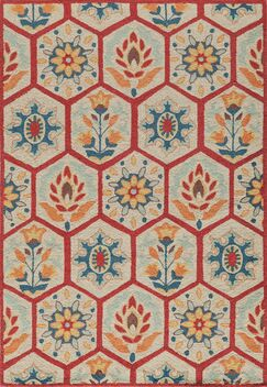 AliyahHand-Tufted Red Area Rug Rug Size: Rectangle 7'9