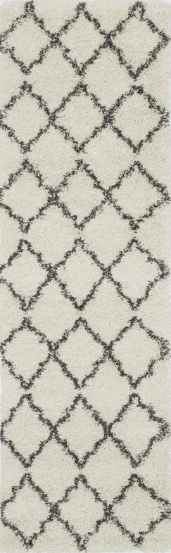 Olhouser Ivory/Charcoal Black Area Rug Rug Size: Rectangle 3'11