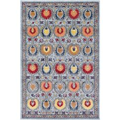 Andersonville Ikat Blue Area Rug Rug Size: Rectangle 2' x 3'